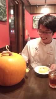「かぼちゃ君、あーん」…稲葉くん、それじゃ共食いだよ!